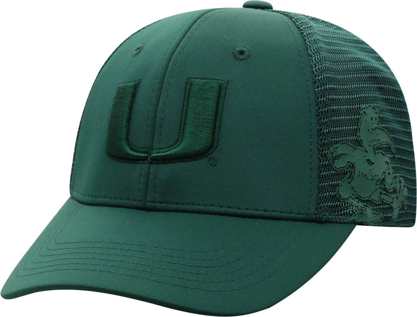 Top of the World Men's Miami Hurricanes Green Dayblaster 1Fit Flex Hat
