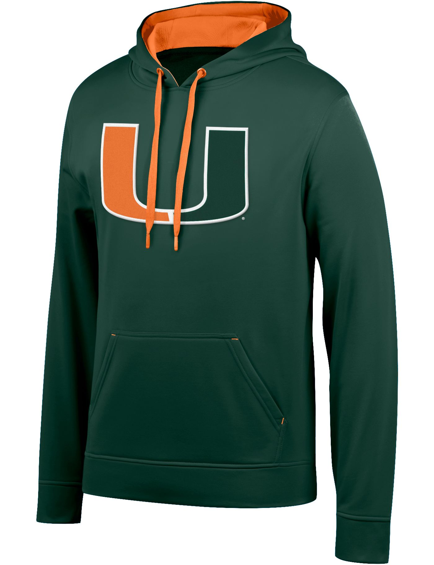 Top of the World Men's Miami Hurricanes Green Foundation Poly Hoodie