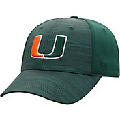 Top of the World Men's Miami Hurricanes Green Intrude 1Fit Flex Hat