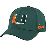 Top of the World Men's Miami Hurricanes Green Phenom 1Fit Flex Hat