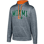 Top of the World Men's Miami Hurricanes Grey Foundation Poly Hoodie