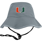 Top of the World Men's Miami Hurricanes Grey Bucket Hat