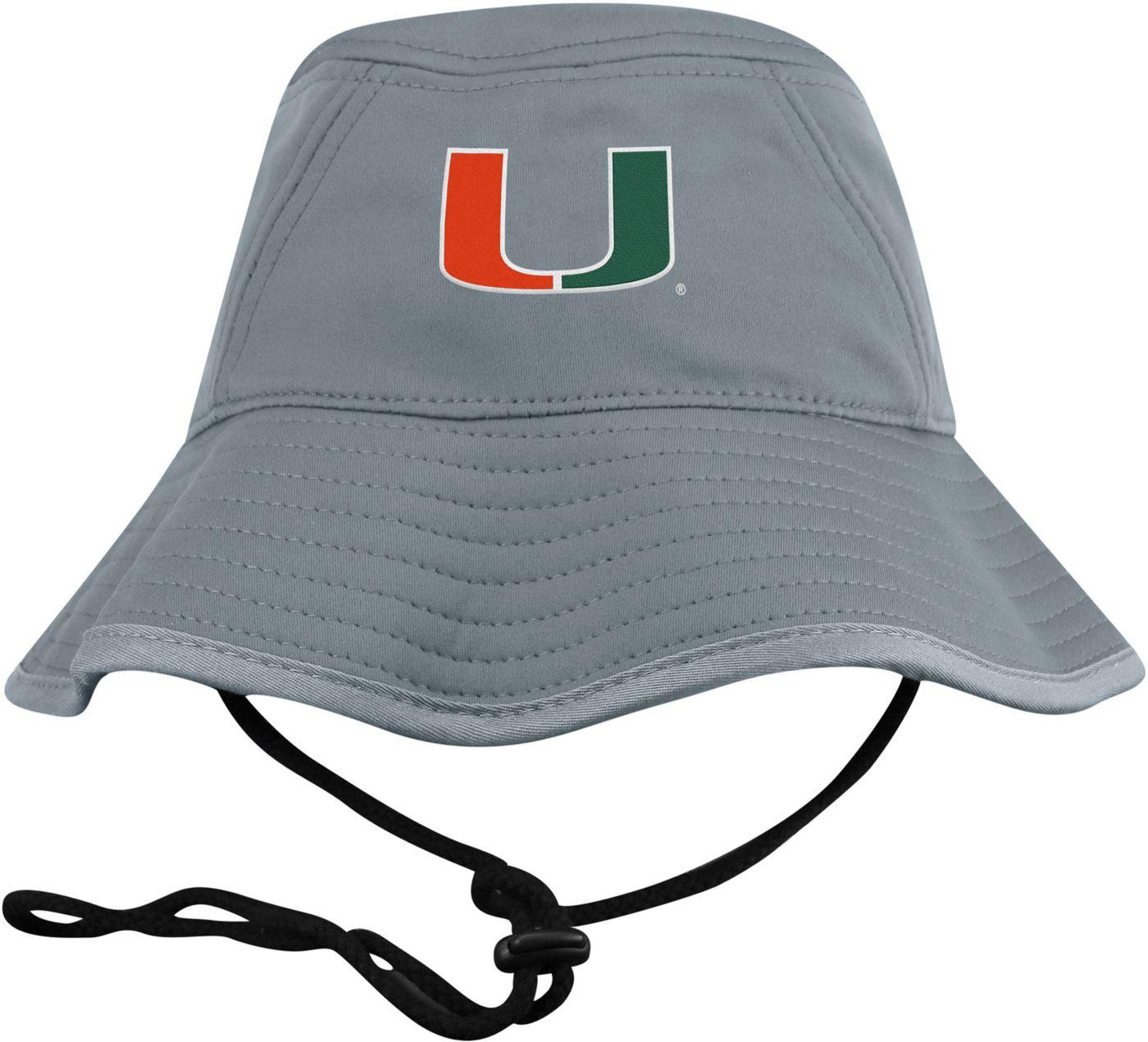 Top of the World Men's Miami Hurricanes Grey Bucket Hat