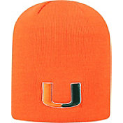 Top of the World Men's Miami Hurricanes Orange Classic Knit Beanie