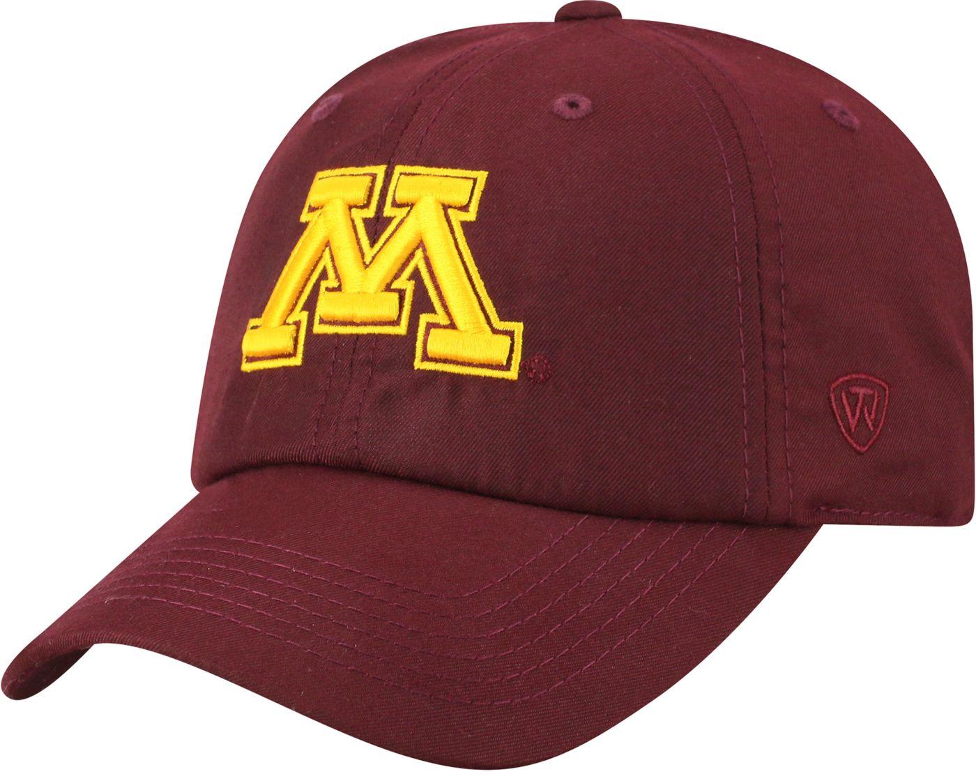 Top of the World Men's Minnesota Golden Gophers Maroon Staple Adjustable Hat