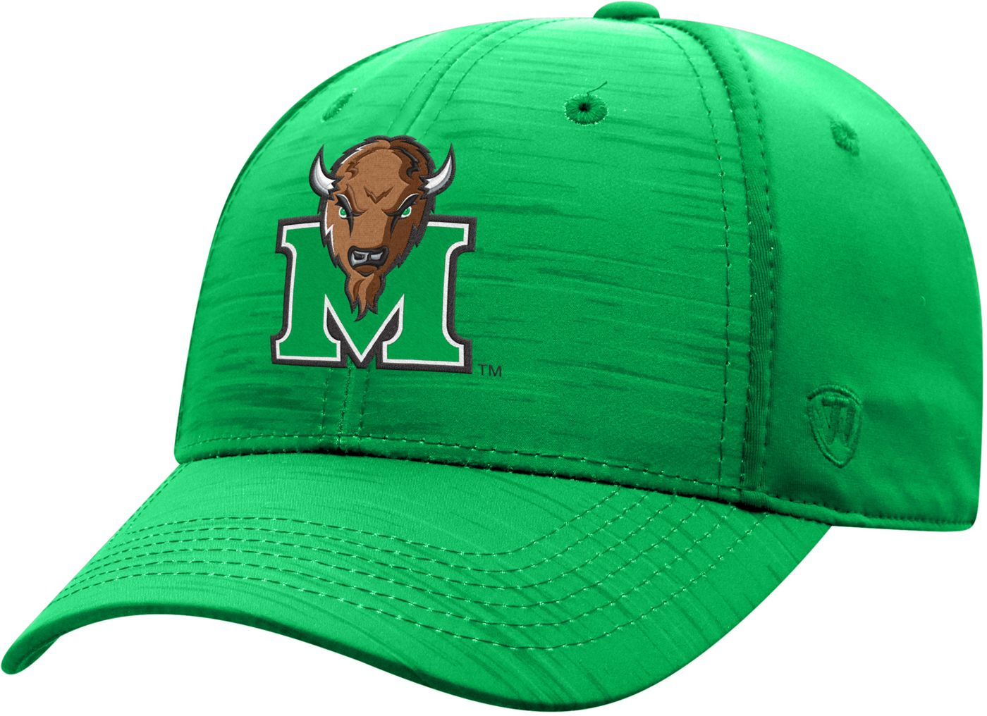 Top of the World Men's Marshall Thundering Herd Green Intrude 1Fit Flex Hat