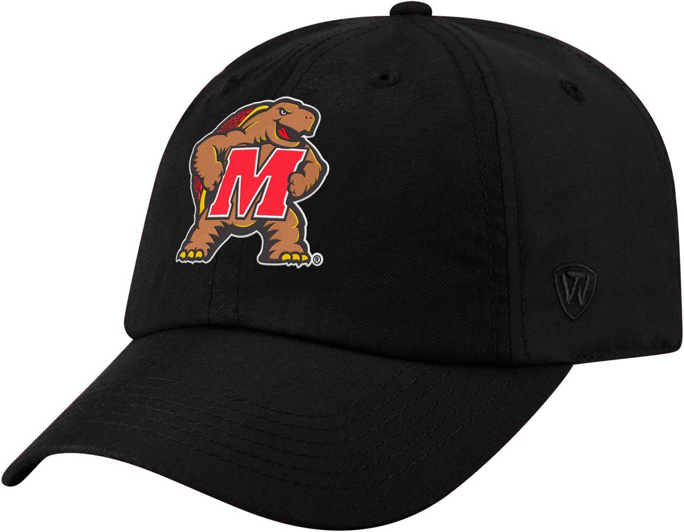 Top of the World Men's Maryland Terrapins Staple Adjustable Black Hat