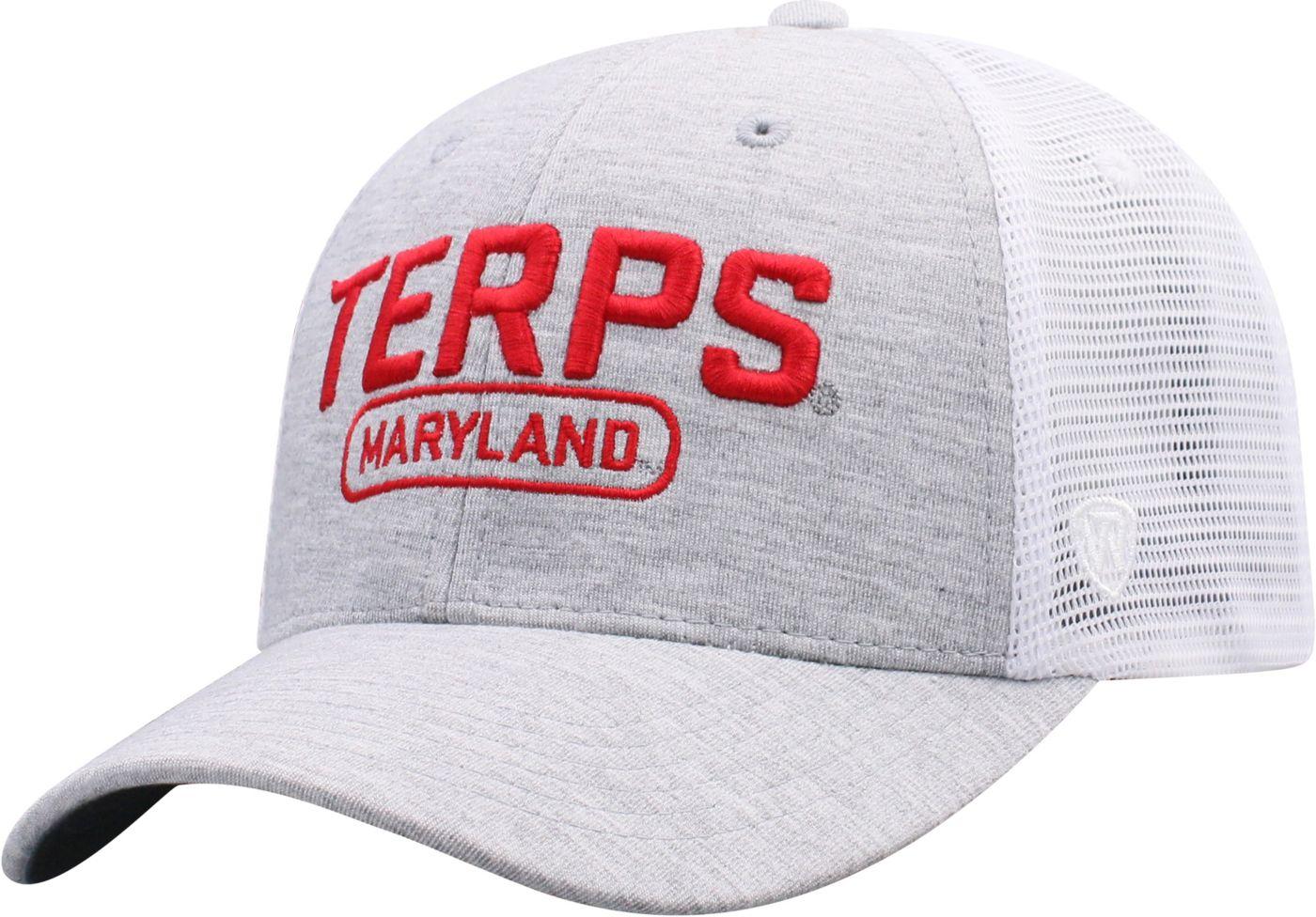 Top of the World Men's Maryland Terrapins Grey Notch Adjustable Snapback Hat