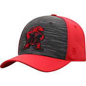 Top of the World Men's Maryland Terrapins Grey/Red Pepper 1Fit Flex Hat