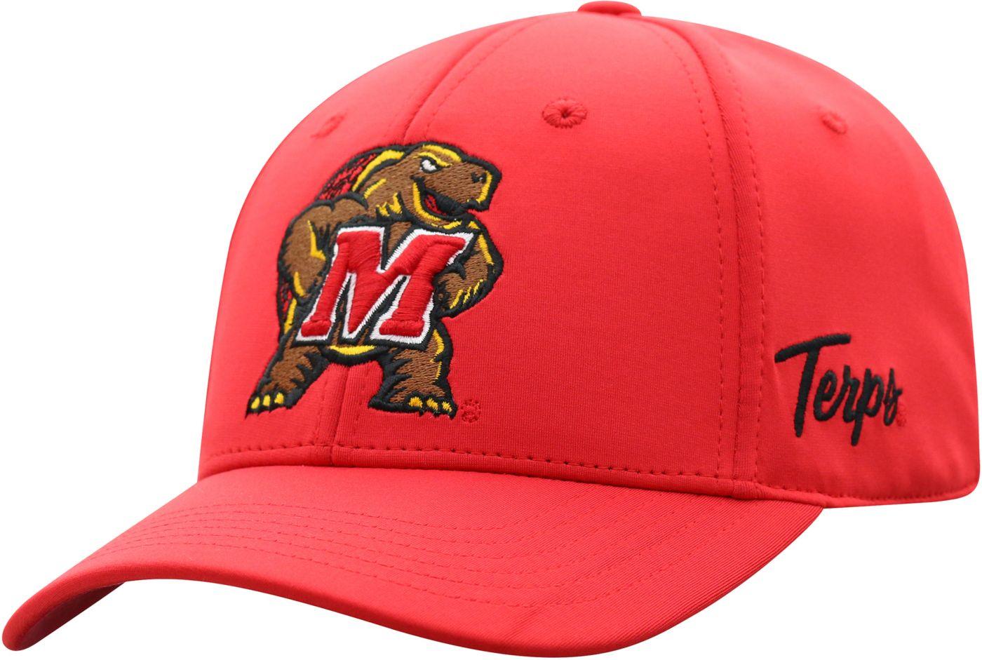Top of the World Men's Maryland Terrapins Red Phenom 1Fit Flex Hat
