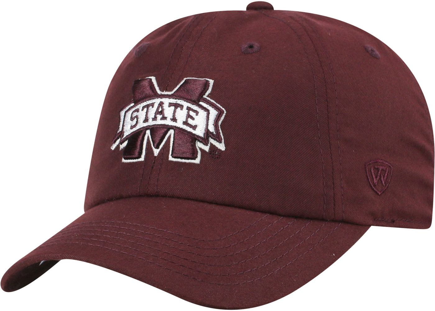Top of the World Men's Mississippi State Bulldogs Maroon Staple Adjustable Hat