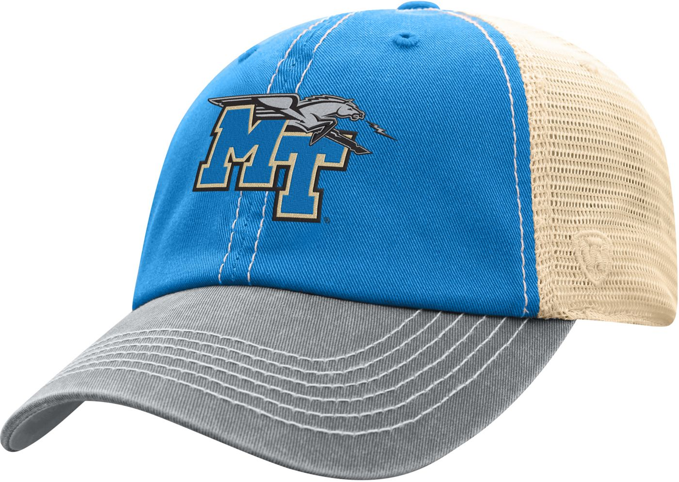 Top of the World Men's Middle Tennessee State Blue Raiders Blue/White Off Road Adjustable Hat