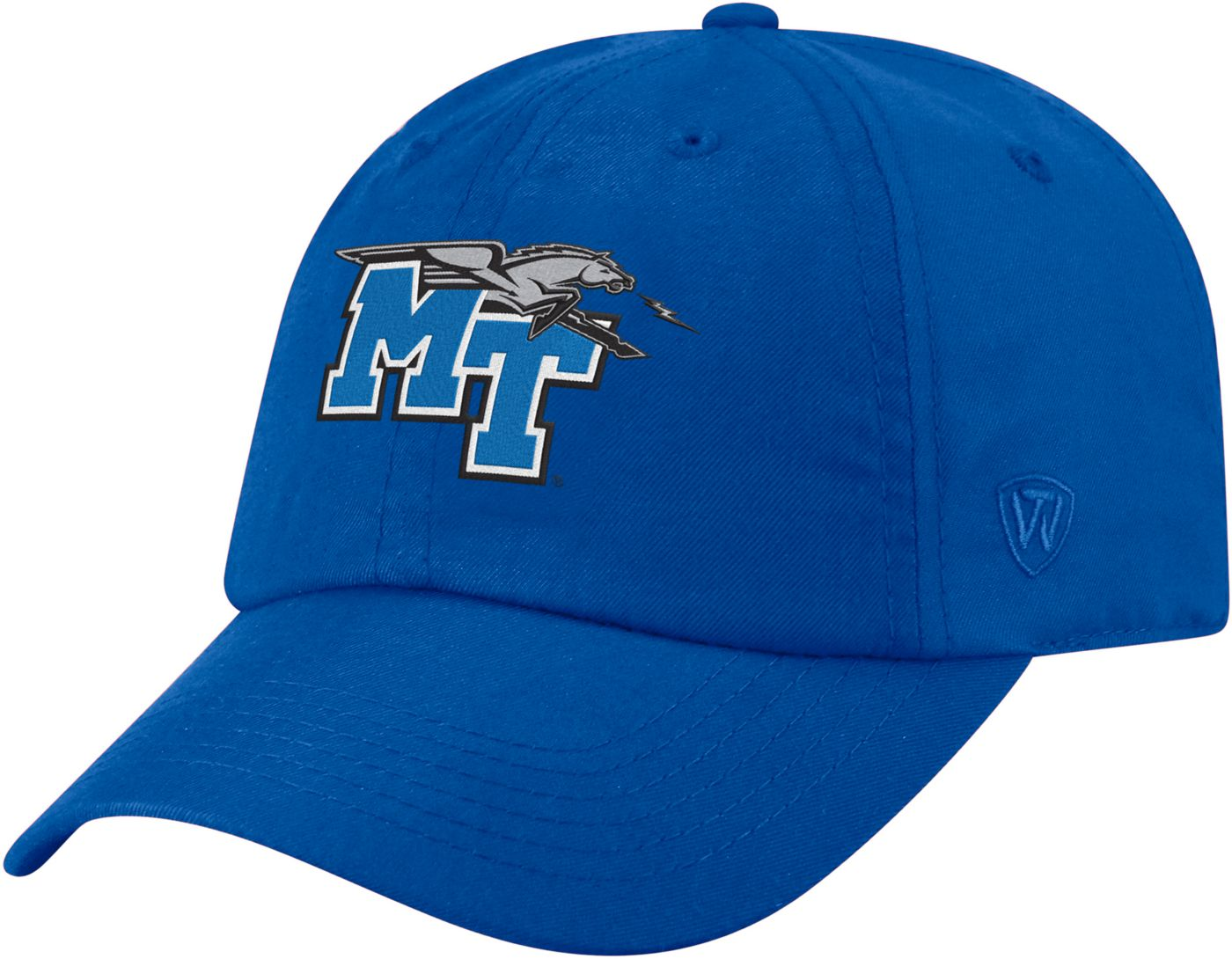 Top of the World Men's Middle Tennessee State Blue Raiders Blue Staple Adjustable Hat