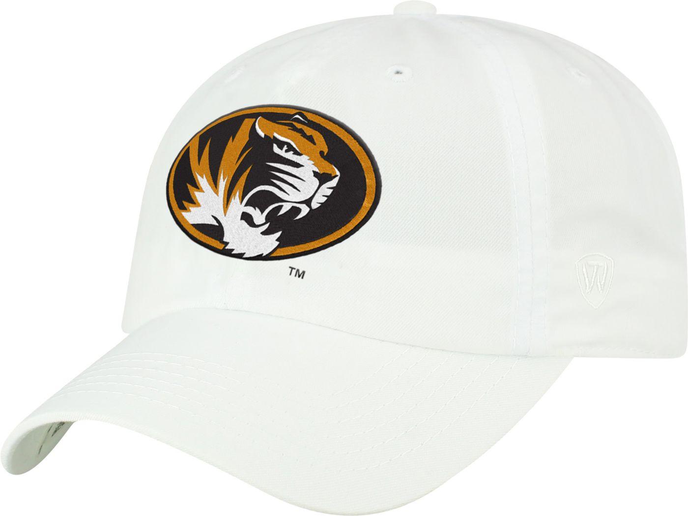 Top of the World Men's Missouri Tigers Staple Adjustable White Hat