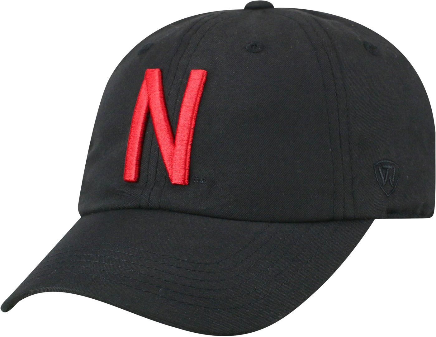 Top of the World Men's Nebraska Cornhuskers Staple Adjustable Black Hat