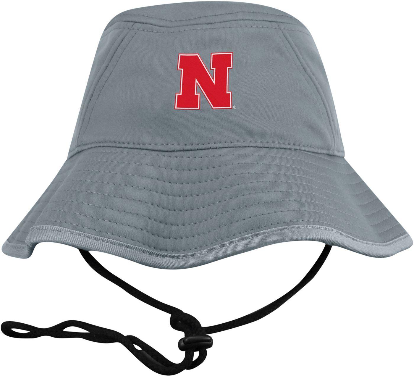 Top of the World Men's Nebraska Cornhuskers Grey Bucket Hat