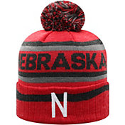 Top of the World Men's Nebraska Cornhuskers Scarlet Buddy Cuffed Pom Knit Beanie