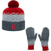 Top of the World Youth Nebraska Cornhuskers Scarlet Disperse Beanie and Gloves Set