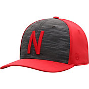 Top of the World Men's Nebraska Cornhuskers Grey/Scarlet Pepper 1Fit Flex Hat