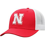 Top of the World Men's Nebraska Cornhuskers Scarlet/White Trucker Adjustable Hat