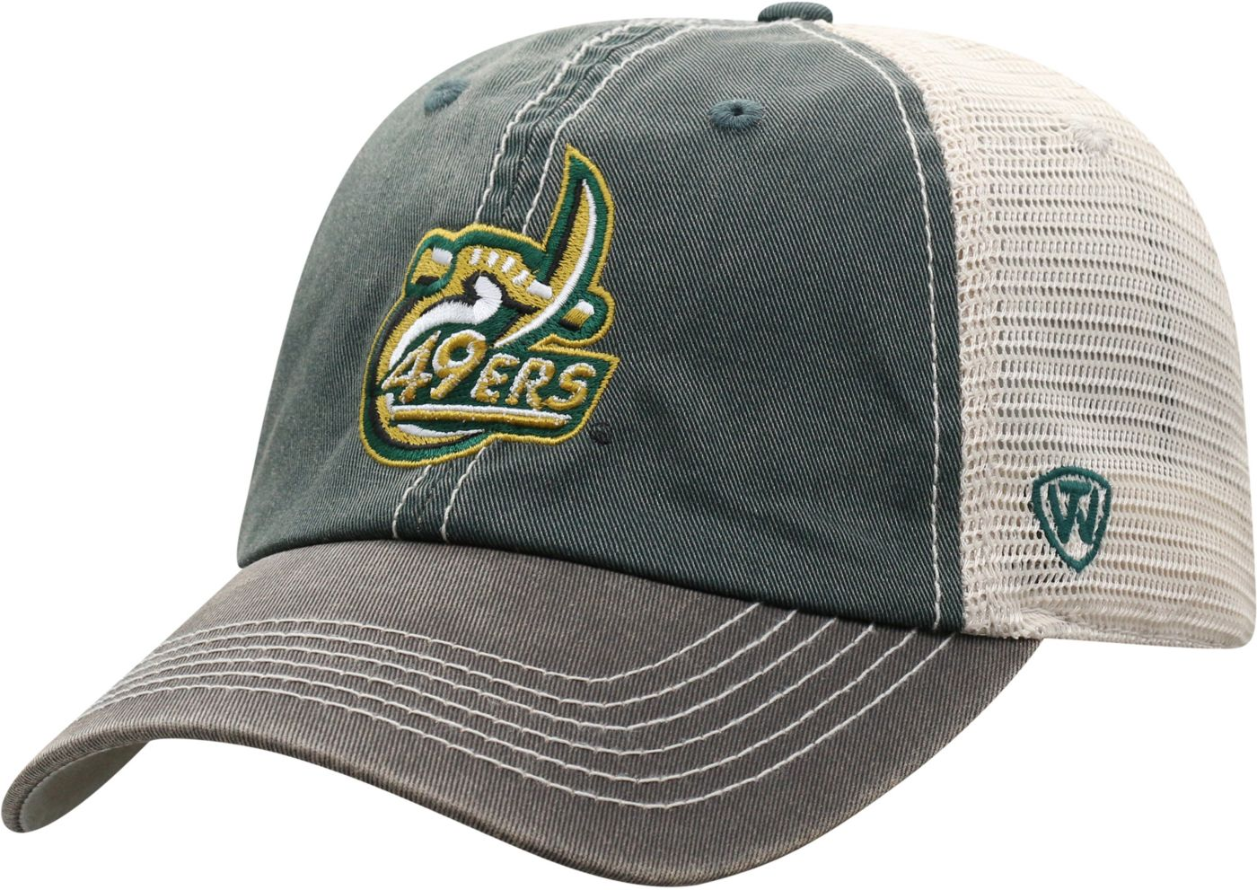 Top of the World Men's UNC Charlotte 49ers Green/White Off Road Adjustable Hat