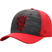 Top of the World Men's NC State Wolfpack Grey/Red Pepper 1Fit Flex Hat