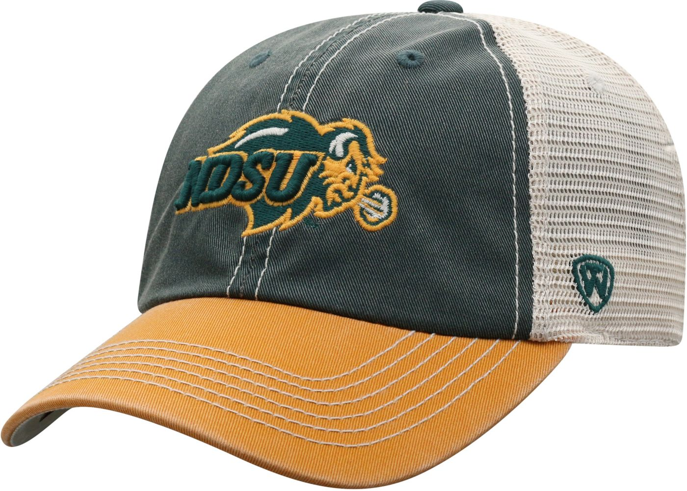Top of the World Men's North Dakota State Bison Green/White Off Road Adjustable Hat