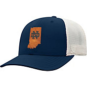 Top of the World Men's Notre Dame Fighting Irish Navy/Grey Precise Trucker Adjustable Hat
