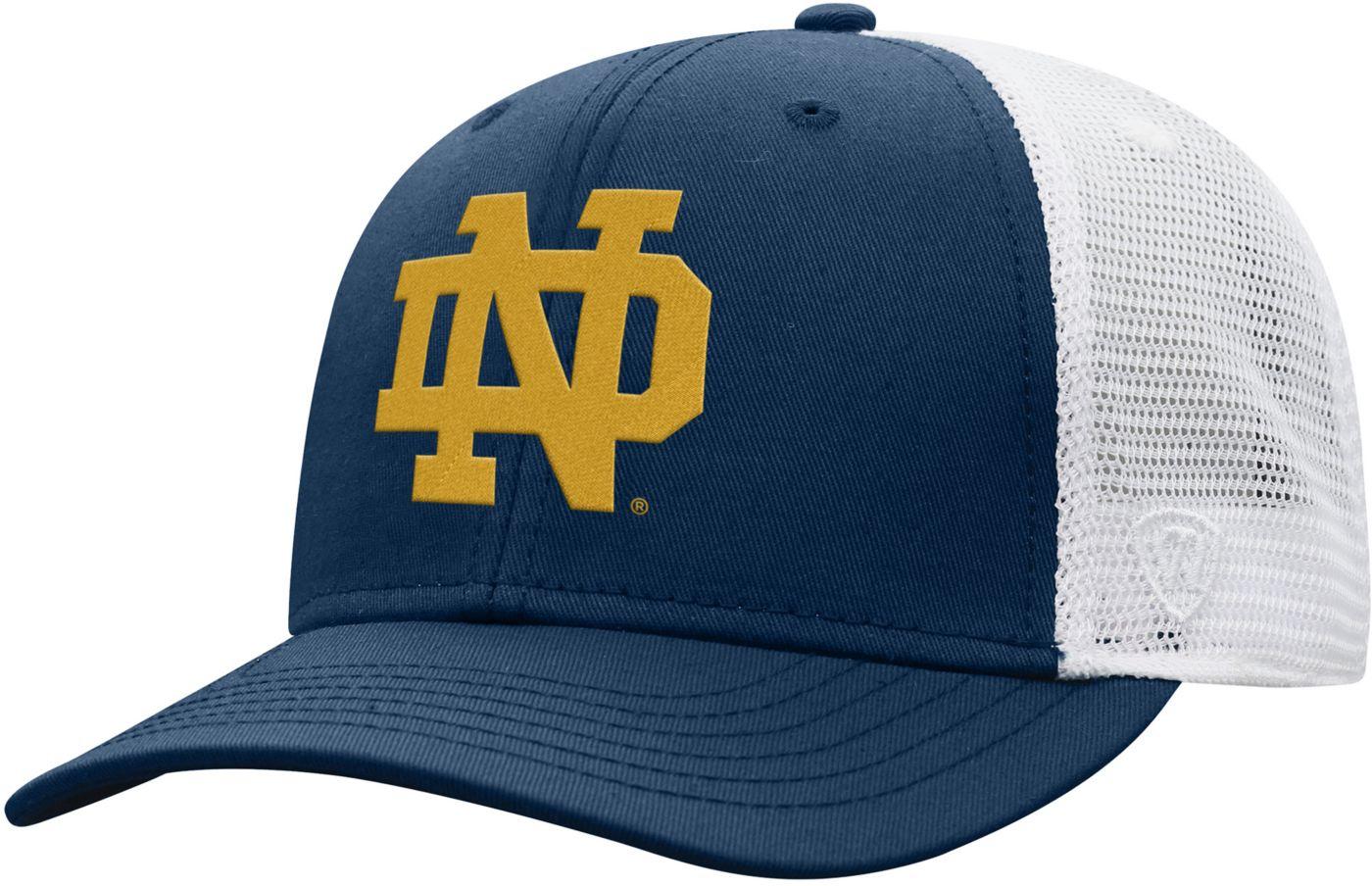 Top of the World Men's Notre Dame Fighting Irish Navy/White Trucker Adjustable Hat