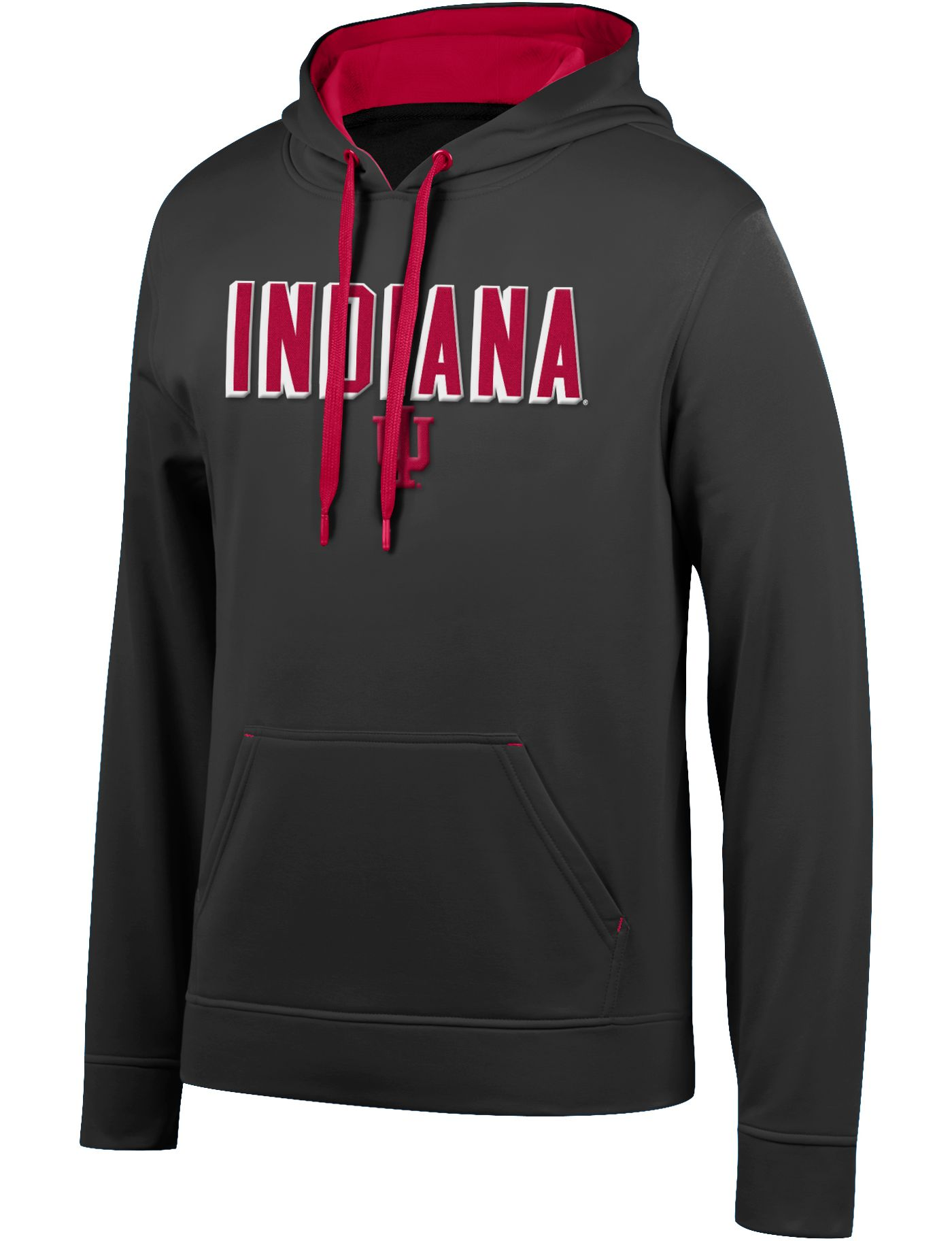 Top of the World Men's Indiana Hoosiers Foundation Poly Black Hoodie