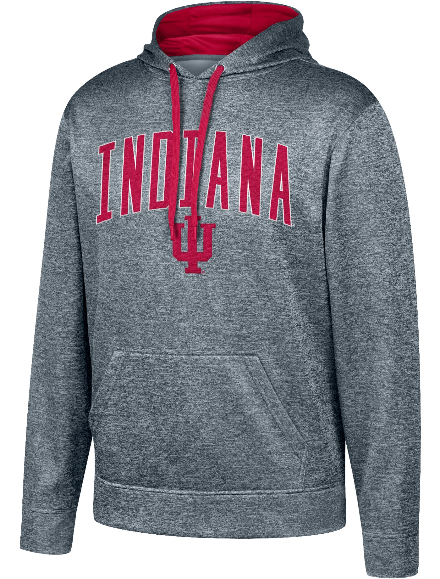 Top of the World Men's Indiana Hoosiers Grey Foundation Poly Hoodie
