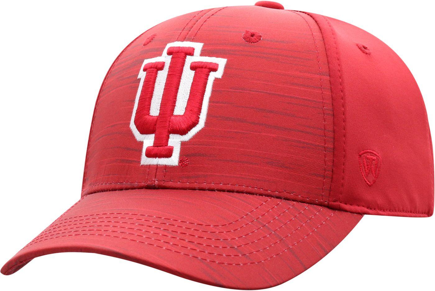 Top of the World Men's Indiana Hoosiers Crimson Intrude 1Fit Flex Hat