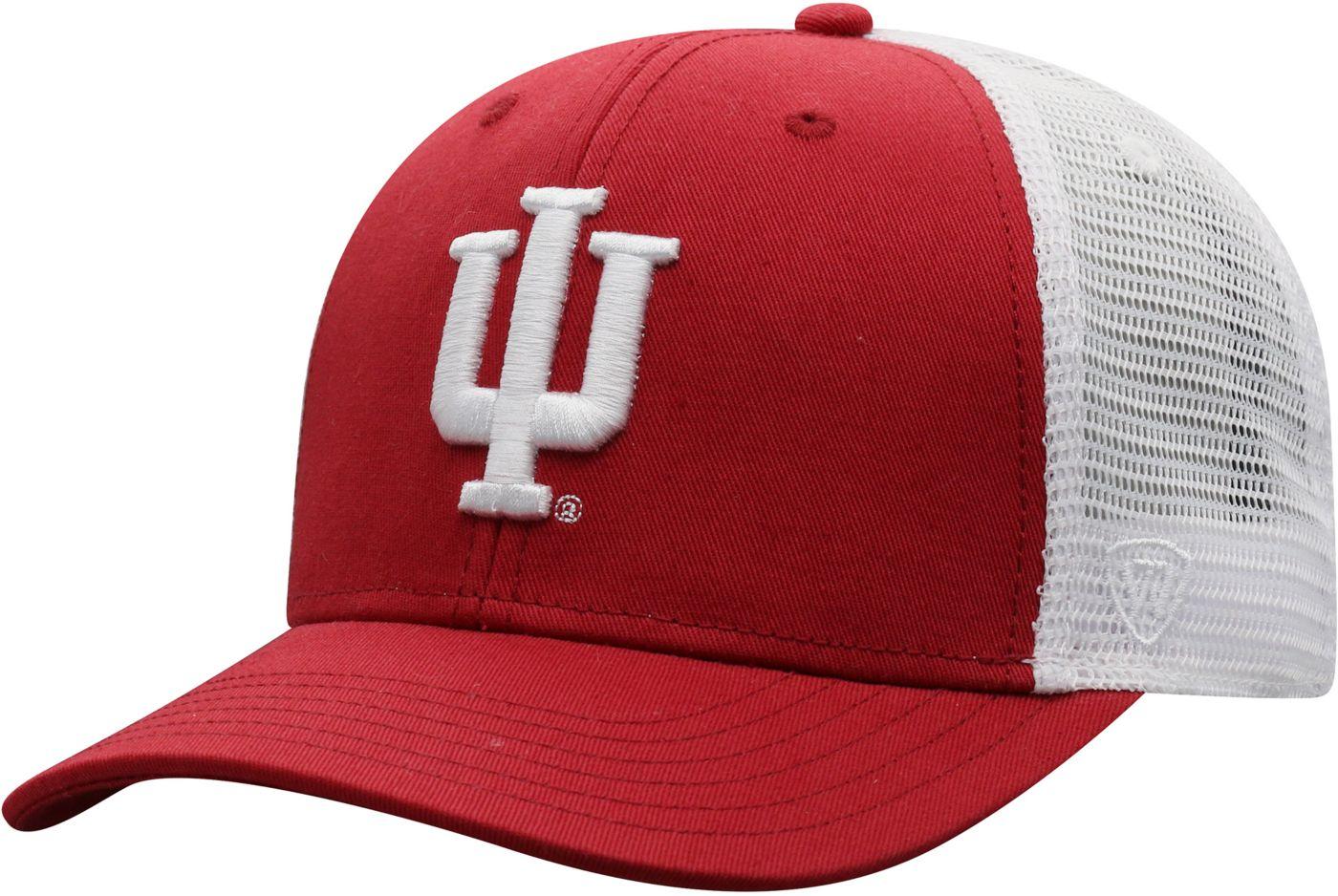 Top of the World Men's Indiana Hoosiers Crimson/White Trucker Adjustable Hat