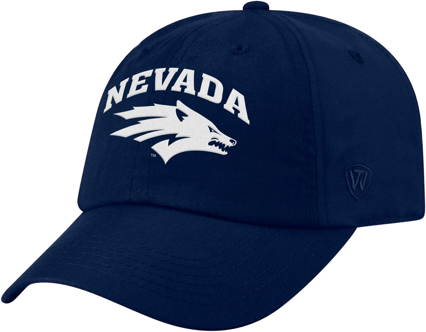 Top of the World Men's Nevada Wolf Pack Blue Staple Adjustable Hat