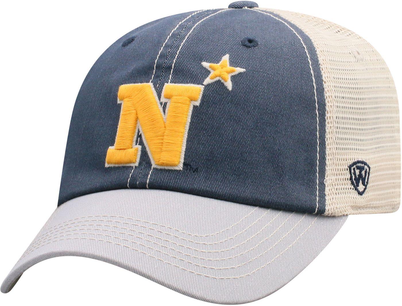 Top of the World Men's Navy Midshipmen Navy/White Off Road Adjustable Hat