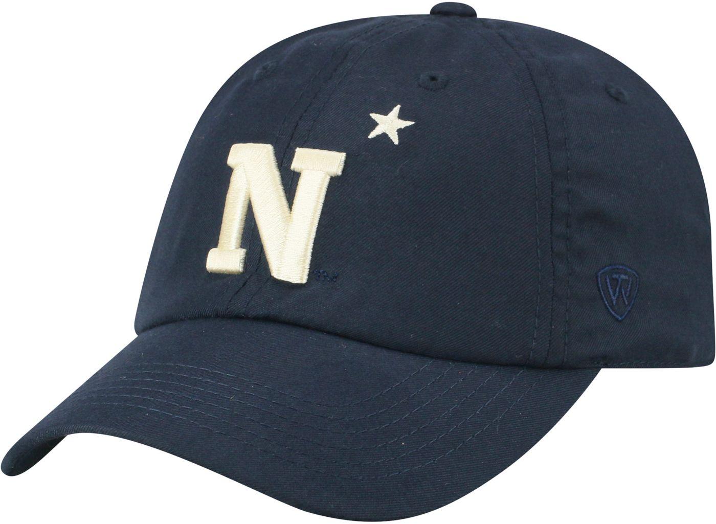 Top of the World Men's Navy Midshipmen Navy Staple Adjustable Hat