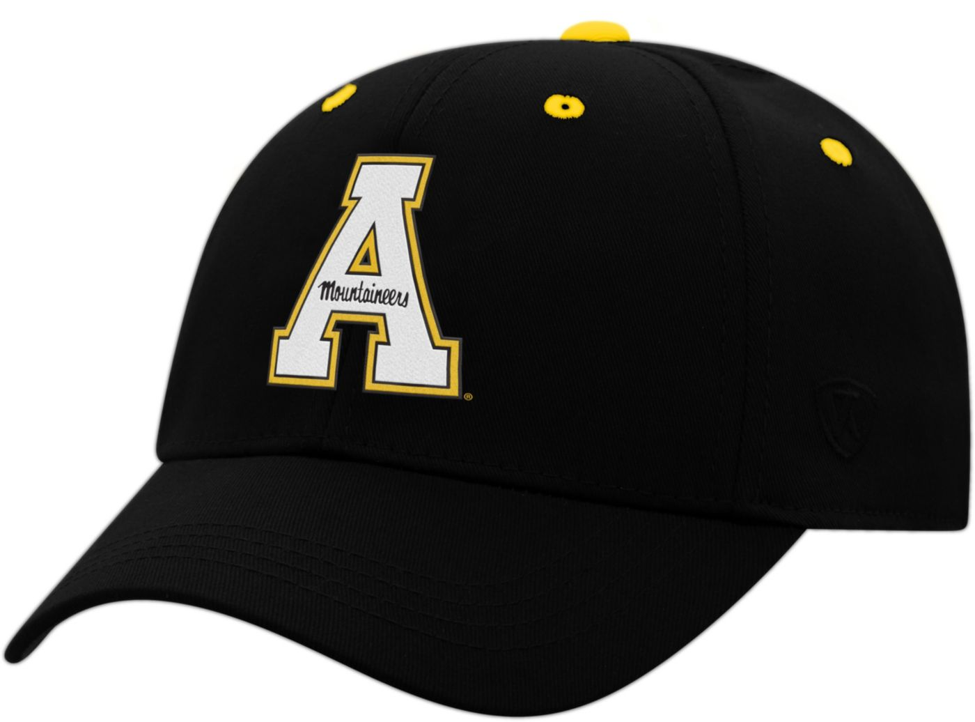 Top of the World Youth Appalachian State Mountaineers Rookie Black Hat