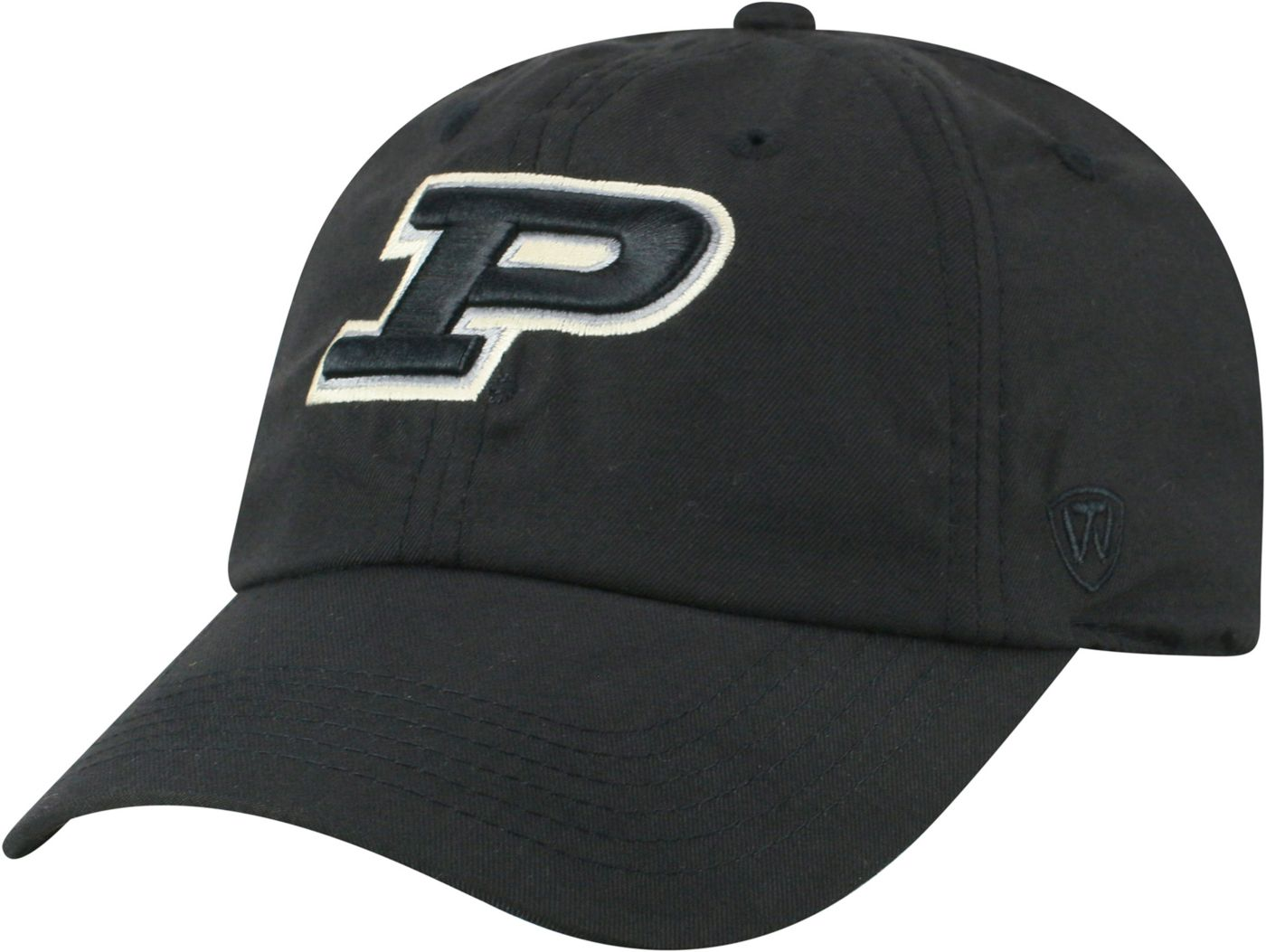 Top of the World Men's Purdue Boilermakers Staple Adjustable Black Hat