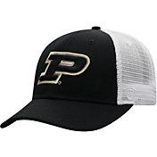 Top of the World Men's Purdue Boilermakers Black/White Trucker Adjustable Hat