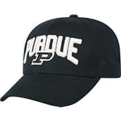 Top of the World Men's Purdue Boilermakers Overarch Adjustable Black Hat