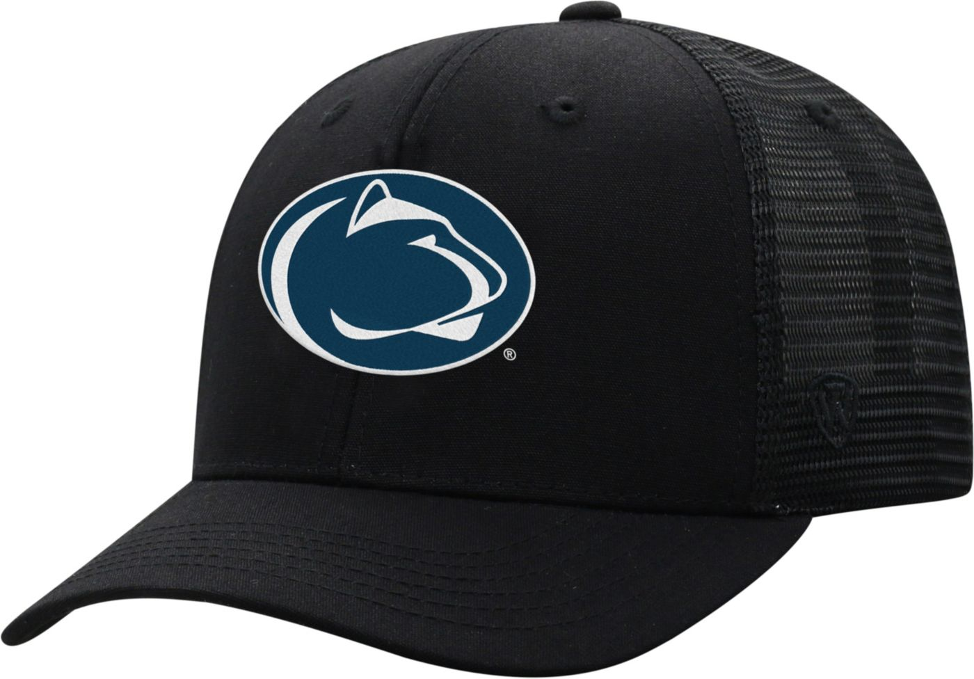 Top of the World Men's Penn State Nittany Lions ZigZag Trucker Adjustable Black Hat