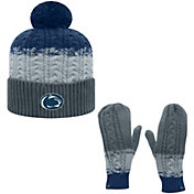 Top of the World Youth Penn State Nittany Lions Blue Disperse Beanie and Gloves Set