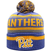 Top of the World Men's Pitt Panthers Blue Buddy Cuffed Pom Knit Beanie