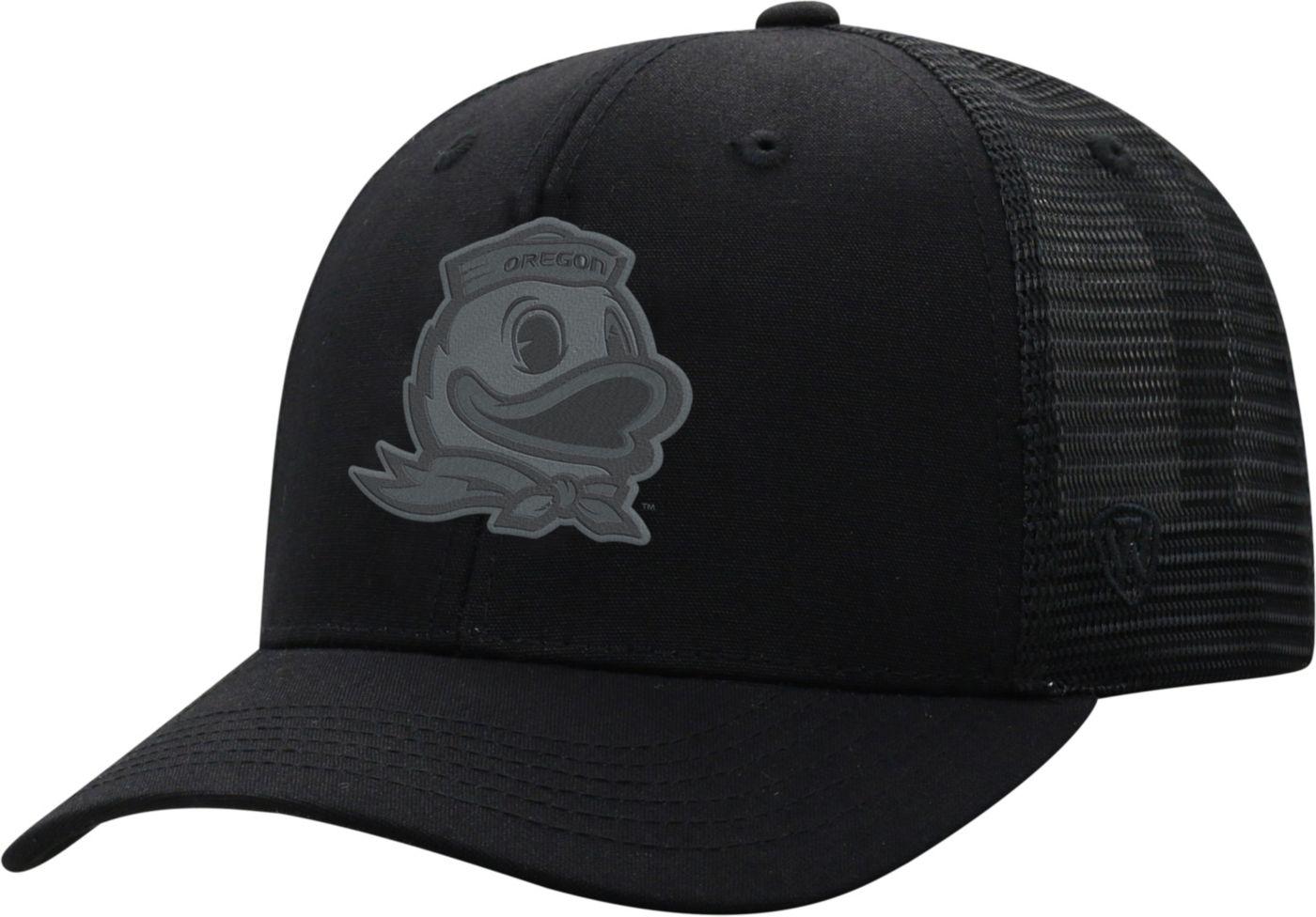 Top of the World Men's Oregon Ducks ZigZag Trucker Adjustable Black Hat