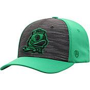 Top of the World Men's Oregon Ducks Grey/Green Pepper 1Fit Flex Hat