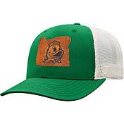 Top of the World Men's Oregon Ducks Green/Grey Precise Trucker Adjustable Hat