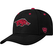 Top of the World Men's Arkansas Razorbacks Triple Threat Adjustable Black Hat
