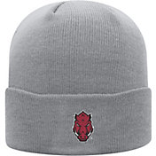 Top of the World Men's Arkansas Razorbacks Grey Cuff Knit Beanie