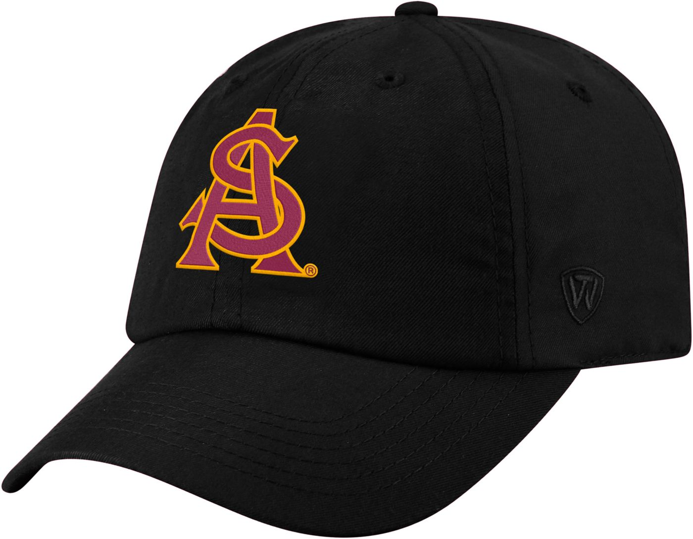 Top of the World Men's Arizona State Sun Devils Staple Adjustable Black Hat
