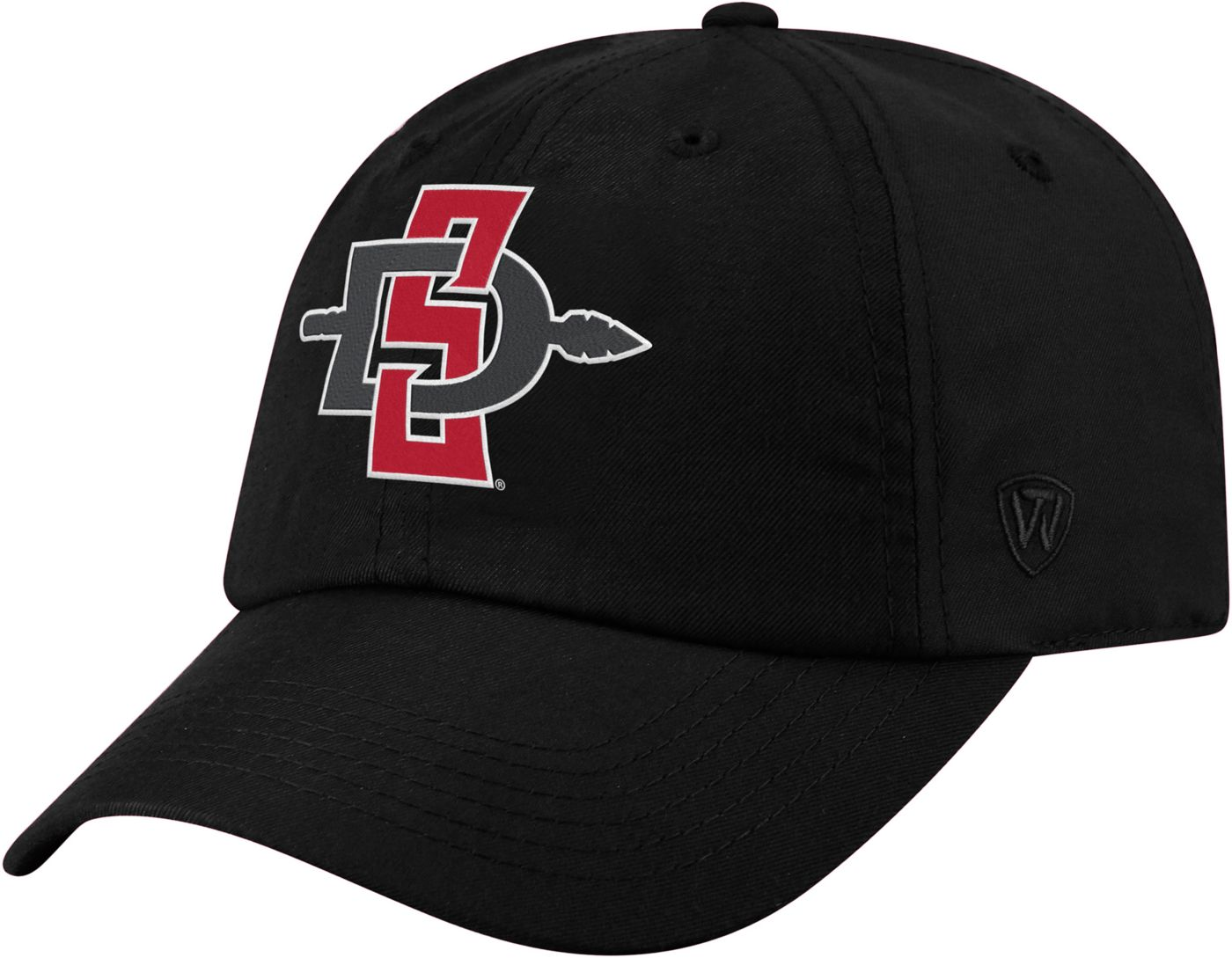 Top of the World Men's San Diego State Aztecs Staple Adjustable Black Hat